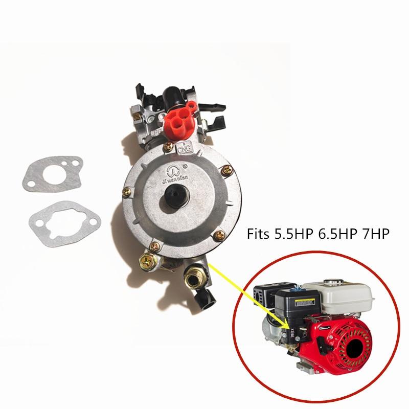 مكربن وقود مزدوج للمولد GX160 GX200 160 168F 170F ، تحويل غاز البترول المسال ، ثلاثي ، استخدام