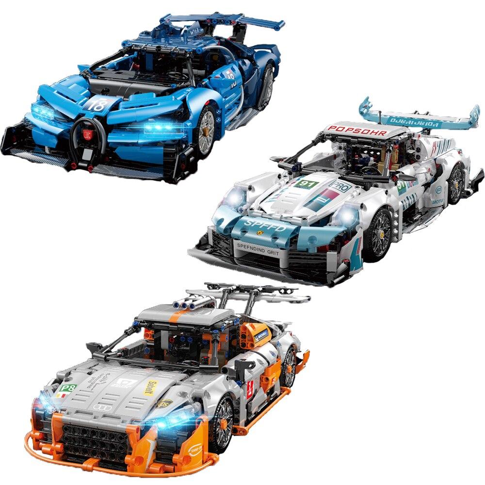 سيارة رياضية فائقة جديدة عالية التقنية بوجاتي بورش أودي لبنات البناء MOC لسباقات السيارات نموذج الطوب لعبة للأولاد هدايا للأطفال