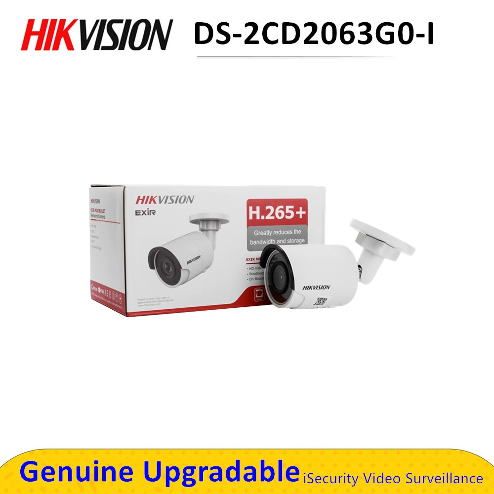 Hik bala de red IP cámara CCTV POE seguridad 6MP poe DS-2CD2063G0-I