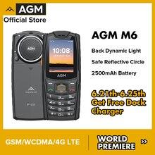 World Premiere AGM M6 GSM Phone 2.4 Inch Phone IP68 Push-Button Phones Keypad Phone Speaker 2500mAh