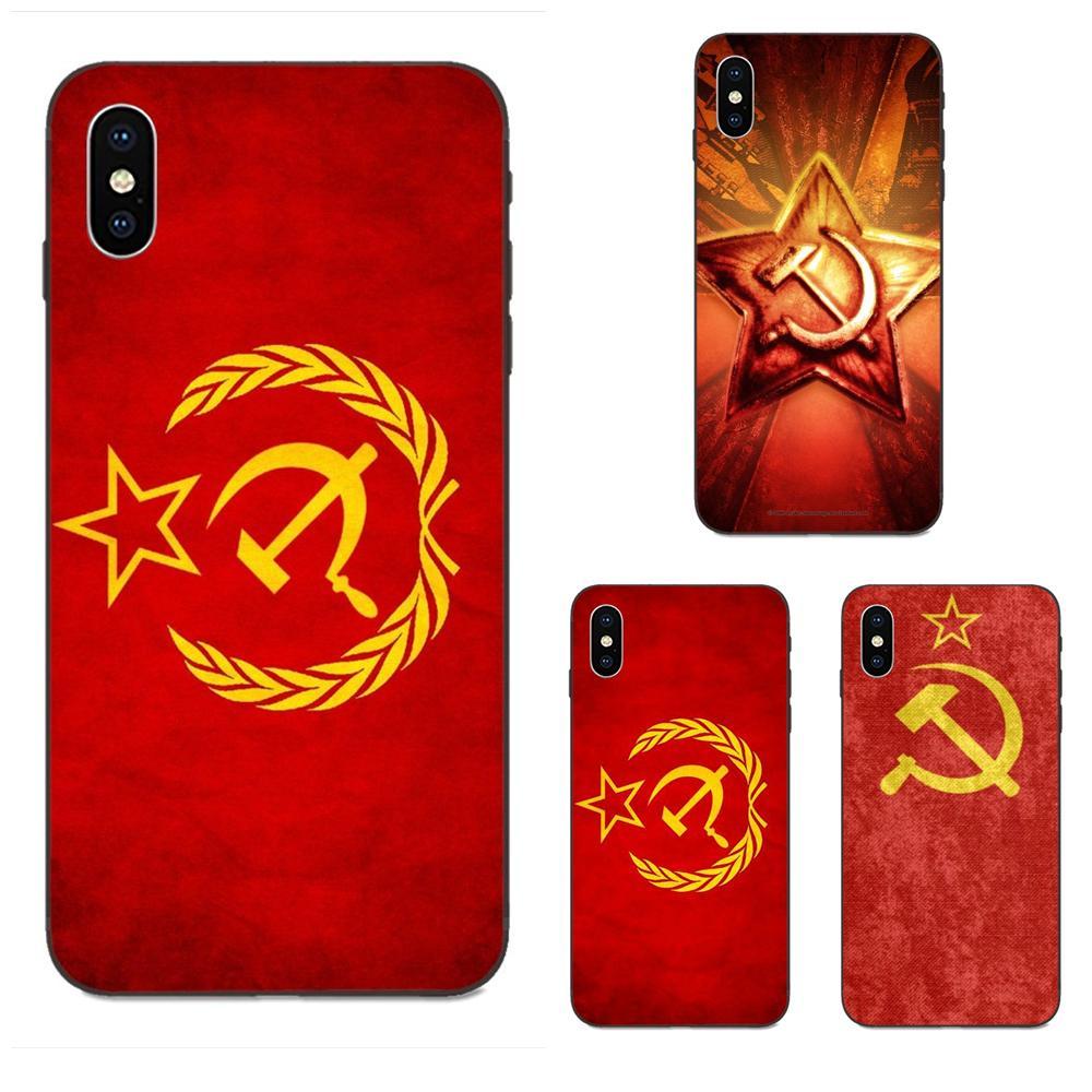 Teléfono Móvil suave, Unión Soviética amorosa, bandera URSS Grunge para Xiaomi Redmi Note 3 3S 4 4A 4X 5 5A 6 6A 7 7A K20 Plus Pro S2 Y2 Y3