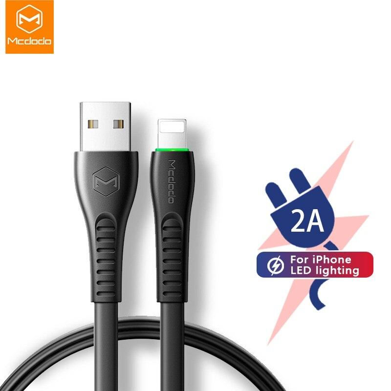 MCDODO Cable USB 2A de carga rápida cargador de Teléfono Cable de datos de Cable USB para iPhone X XS X MAX XR 8 6S 6 más 7 6S más iPad mini IOS 13 DE
