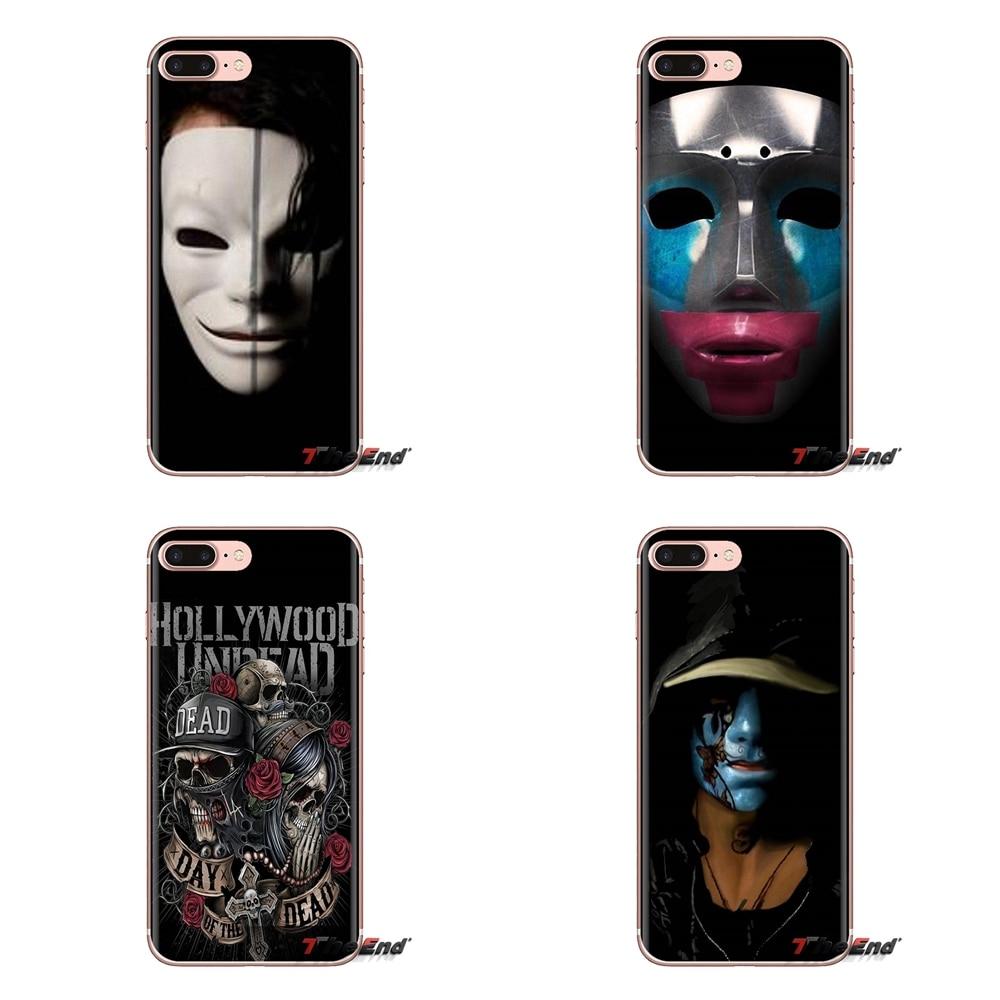Para iPod Touch Apple iPhone 4 4S 5 5S SE 5C 6 6S 7 7 8 X XR XS Plus MAX Hollywood máscara de no muerto suave carcasa transparente cubre