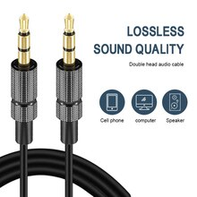 1/2/3m Audio Cable 3.5mm Gold Plated Plug Male to Male Cable Line for iPhone X Samsung Galaxy S8 Car