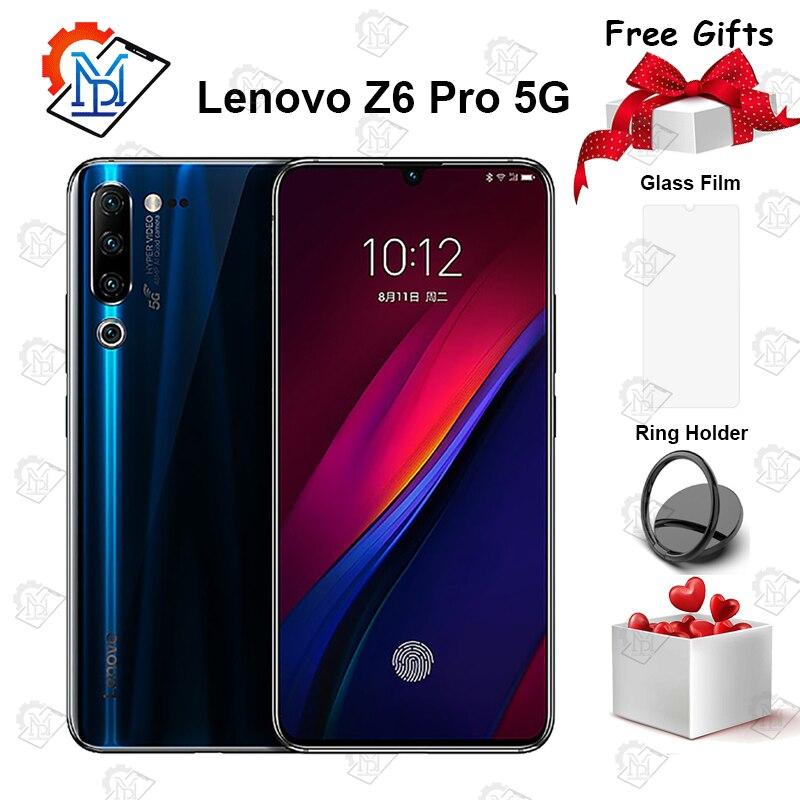 Lenovo Z6 Pro 5G Mobile Phone 6.39 inch Super AMOLED 8GB+256GB Snapdragon 855 Octa-core Android 9.0 48MP Quad Cameras Smartphone