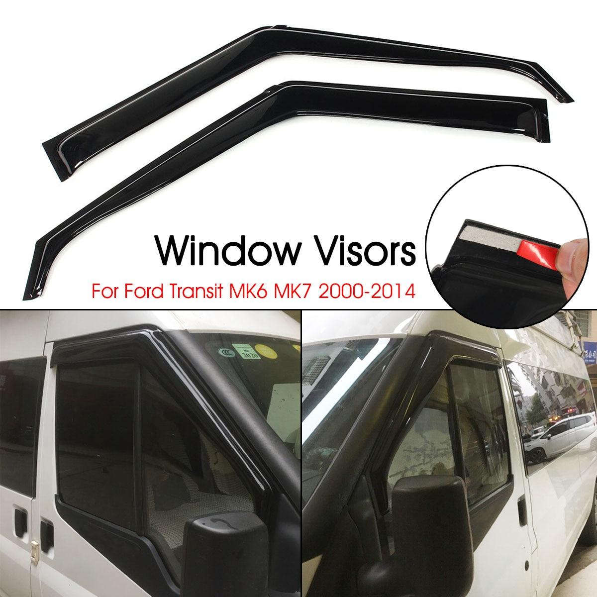 Window Visor Sun Rain Wind Deflectors Vent Guard For Ford Transit MK6 MK7 2000 2001 2003 2003 2004 2005 2006 2007 2008 09-14