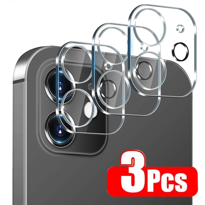 3Pcs Full Cover Camera Lens Protector on For IPhone 12 13 Pro Max Mini Tempered Glass for IPhone 11 Pro Max XR Camera Protector