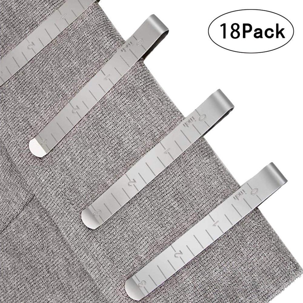 18 шт. металлический швейный обжимной зажим из нержавеющей стали подшивающие зажимы со встроенной линейкой измерительная линейка для ткани DIY швейный инструмент FD