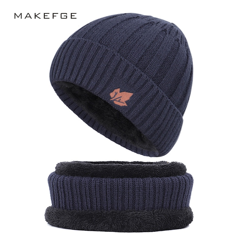 Новая модная хлопковая шапка, уличная теплая Повседневная мужская зимняя шапка, слюнявчик для мужчин и женщин, вязаная шапка, бархатная Тол...