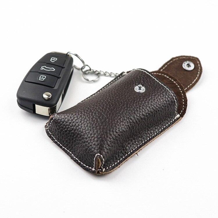 Ремень из натуральной кожи чехол для автомобильного смарт-ключа ключница Пряжка винтажная маленькая сумка для ключей брелок автомобильный держатель для ключей