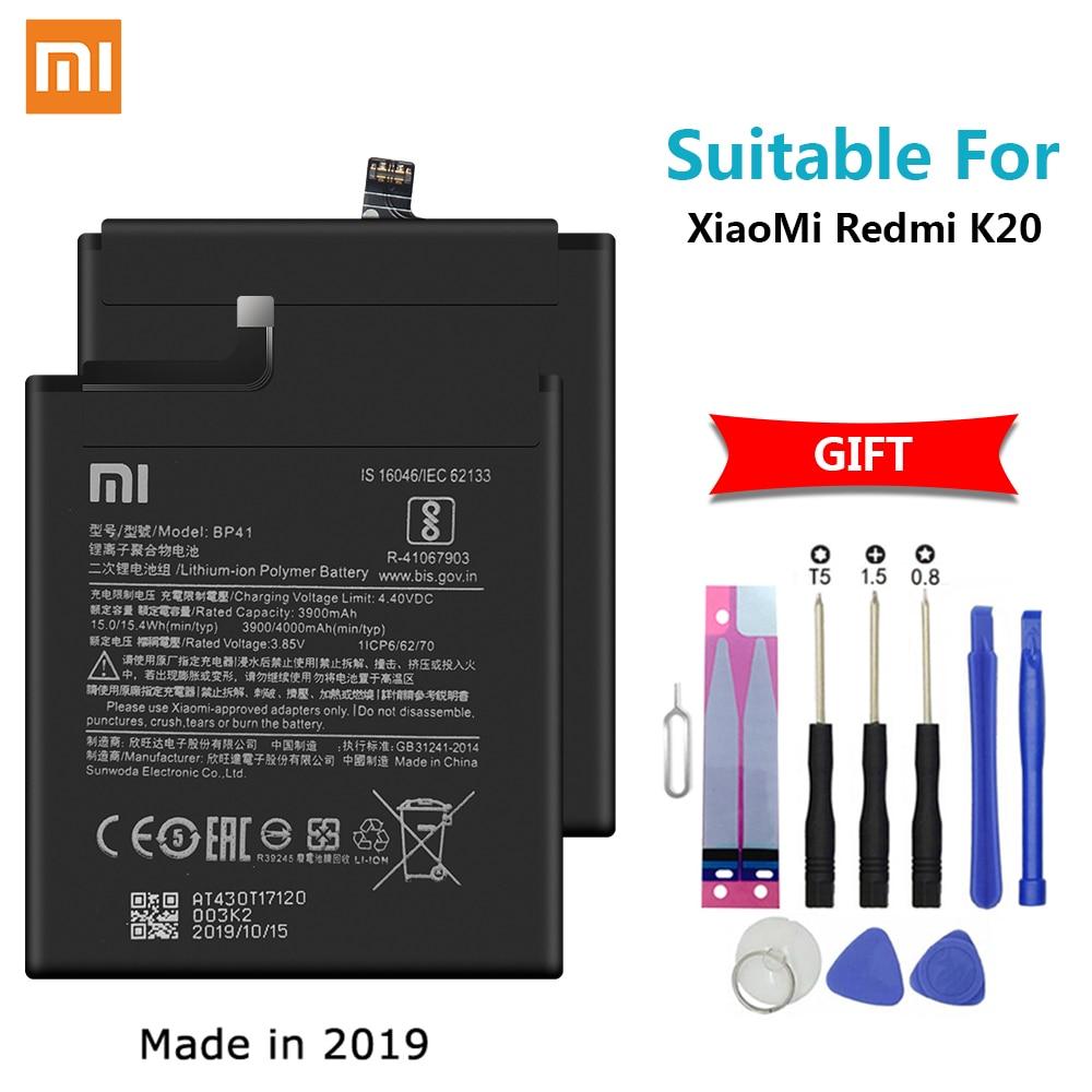 Xiao mi Original batería de repuesto de teléfono BP41 para Xiaomi rojo mi K20 batería de repuesto 4000mAh baterías de alta capacidad + herramientas
