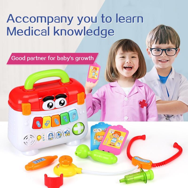 Children Medical Kit Doctor Nurse Pretend Play Set Portable Suitcase Medical Tool Kids Portable Suitcase Medical Kit Toys