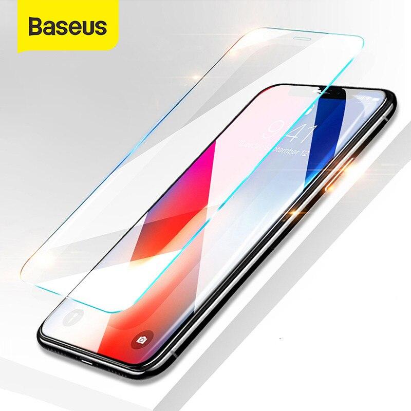 Baseus 0.15mm super fino protetor de tela para o iphone xs max xs xr filme de vidro 2018 anti luz azul vidro temperado para iphone x