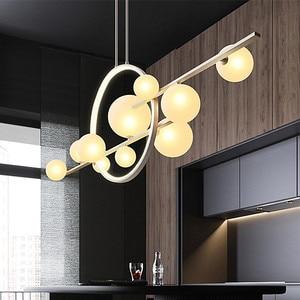 Nordic Glass Ball Chandelier suspension luminaire Modern Dinning Room Light Fixture Decor designer hanging lights