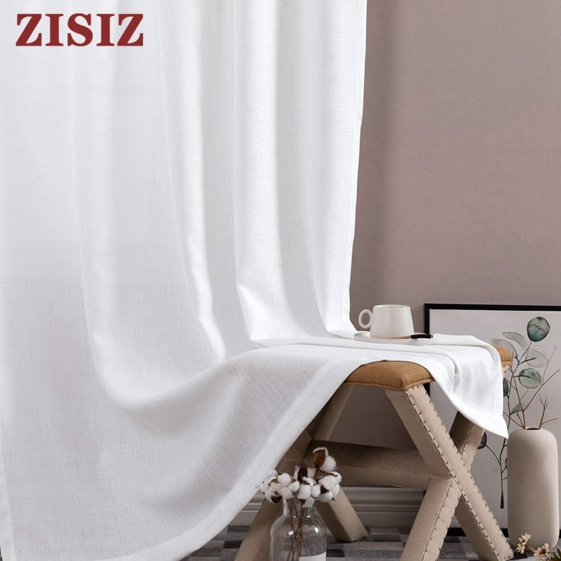 aliexpress.com - Solid White Thick Tulle Curtains For Living Room Bedroom Sheer Curtains Modern Voile Decorative Window Treatments Customized