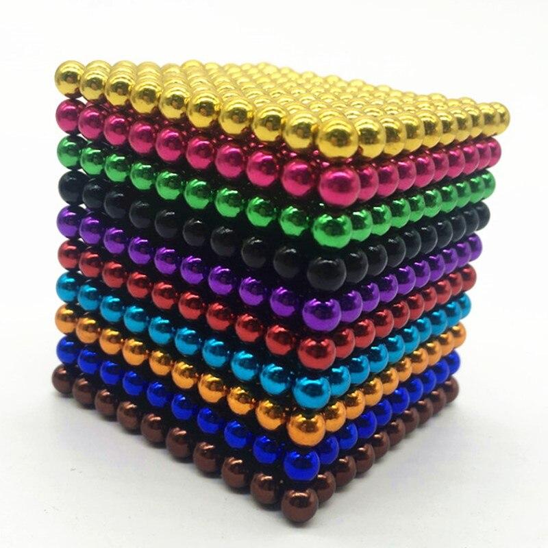 3/5MM balls cubo DIY magic cube Assemble magic cube construction toys Creative neodymium