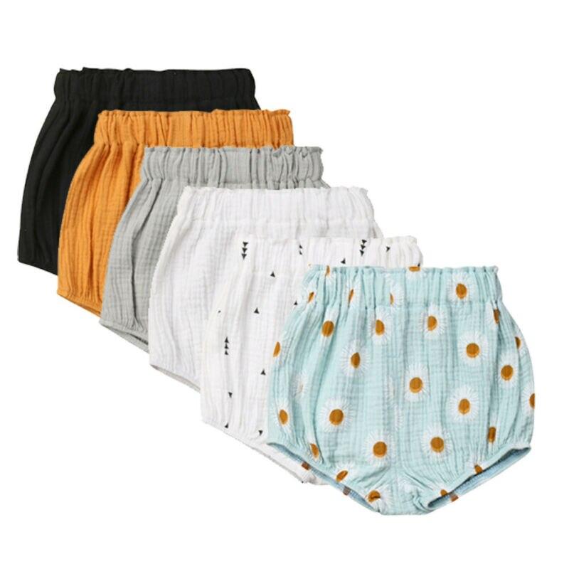 Pantalones cortos estilo harén para recién nacidos, bebés, niños y niñas, bombachos de PP, bragas, cubierta de pañales