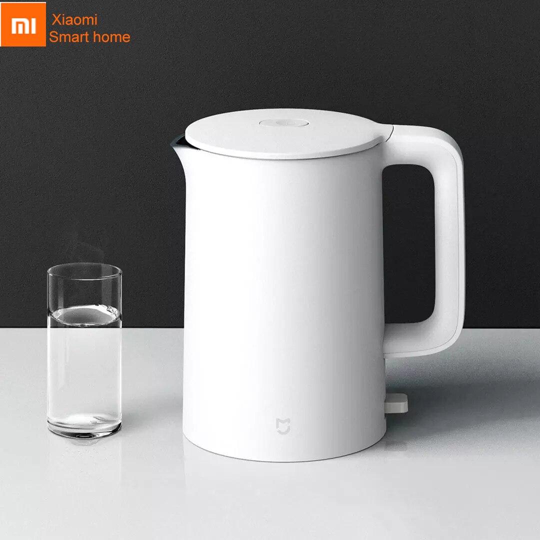 Tetera eléctrica Xiaomi mi jia, tetera mi, hervidor de agua caliente con protección automática de apagado de acero inoxidable 304