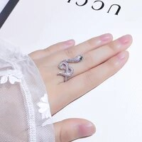 domineering snake ring vintage simple and cool index finger ring japanese style mild luxury online influencer fashion open ring