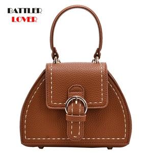 Women Elegant Tote Bucket Bag 2021 Fashion New High Quality Leather Designer Handbag for Female Lock Shoulder Messenger Purse