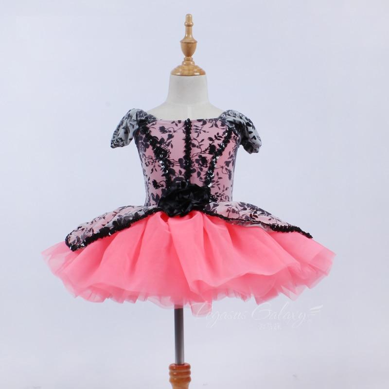 Ballet profesional vestido Ballet adultos tutú negro encaje vestidos de baile para niñas bailarina Cisne lago traje de mujer Ropa de baile