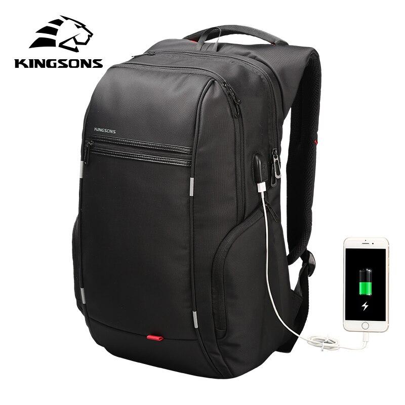 Mochila De moda Kingsons para hombres y mujeres, mochila para portátil de 13, 15 y 17 pulgadas, mochila de viaje impermeable de 20 a 35 litros, mochila escolar para estudiantes