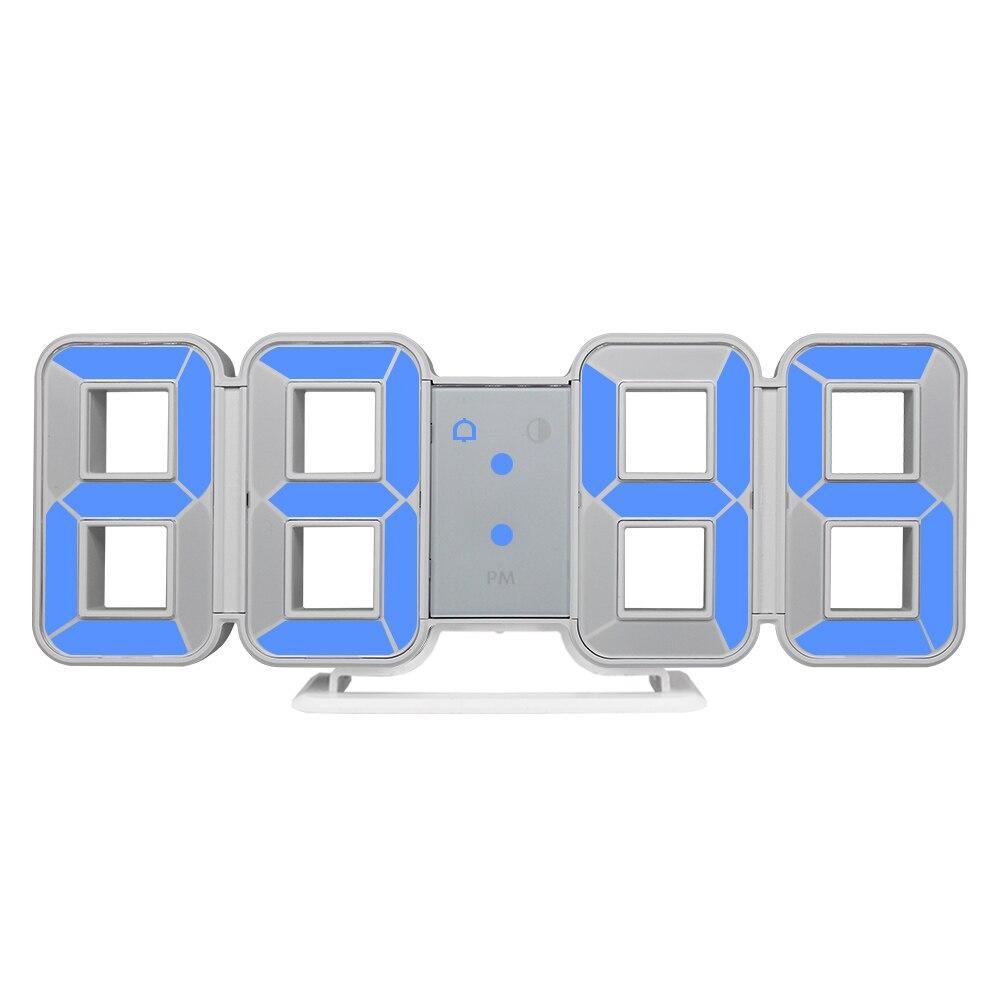 Новые часы, 3d светодиодный настенные часы, большие цифровые часы с датой, домашнее украшение, настольные часы для гостиной, 12/24 часов, дисплей