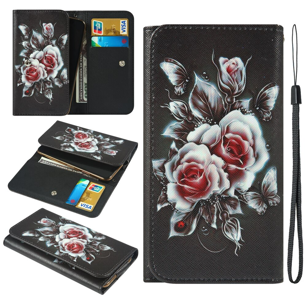 Para Huawei nova 4e 5 Pro 5T 5i lite 3 lla 7R 8A 8X9 Infinix caliente 7 pintado estilo de la cartera con la ranura para tarjeta funda de teléfono