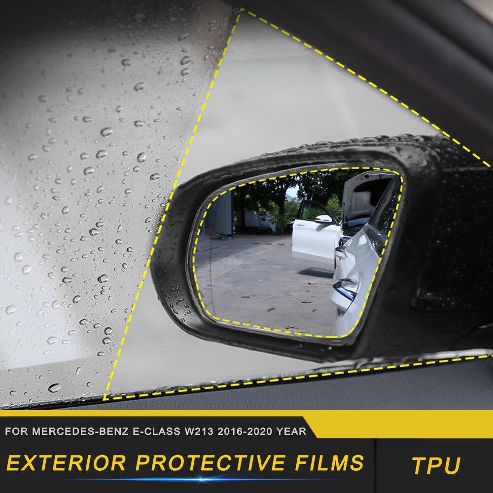 Cubierta de película protectora para ventana de espejo retrovisor de coche accesorios de Exterior para mercedes-benz Clase E W213 2016-2020
