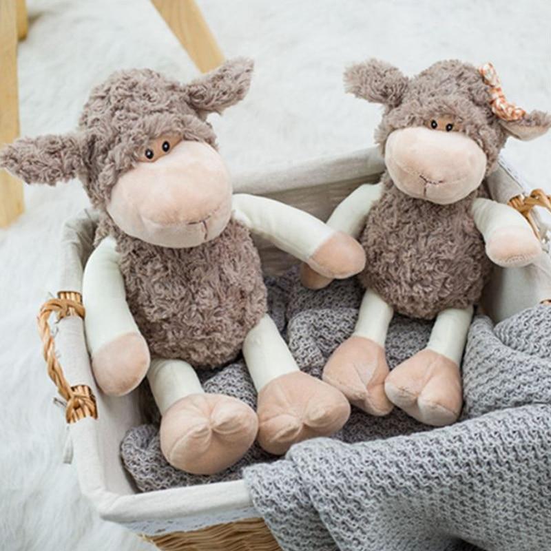Kawaii Sleeping Companion Sheep Doll Toy Shaun Plush Filled Animal Couple Child Birthday Gift