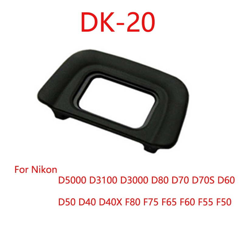 Ocular de Borracha Ocular Ocular para Nikon DK-20 DK-20 D5200 D5100 D3200 D3100 D3000 Câmera SLR
