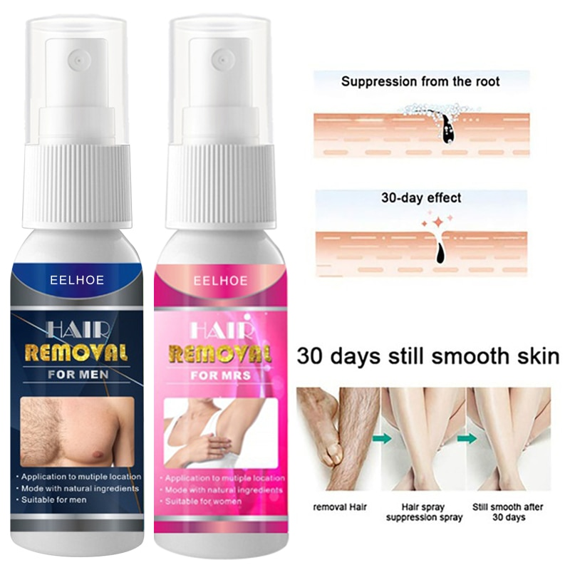 Men Women Natural Hair Removal Cream Painless Hair Remover Spray For Armpit Legs And Arms Skin Body