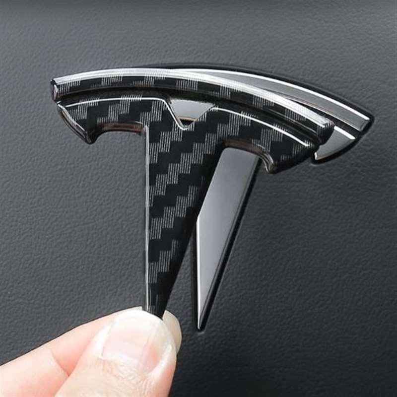 Узор из углеродного волокна для Tesla Model 3 Y X S автомобильные логотипы, нашивка «штурвал», украшение, модифицированные аксессуары