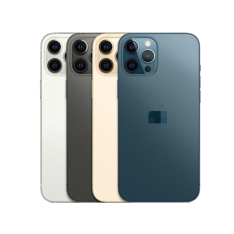 Перейти на Алиэкспресс и купить Мобильный телефон с помощью Face ID для iPhone 12 Pro с одной SIM-картой смартфон 6,1 дюймA14 чип 12MP оперативная память 6 ГБ Встроенная 128 256 ГБ секундная стрел...