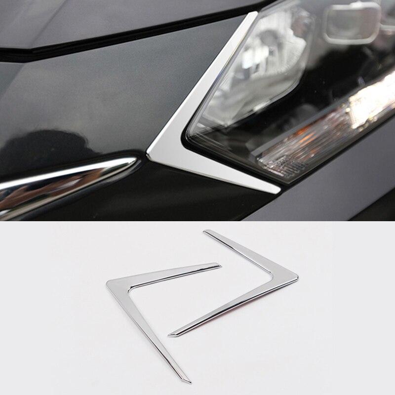 For Honda HRV HR-V 2014/15/16/17 ABS Car Accessories Headlights Trim Covers Decorative Head light Triangle  Frame