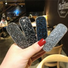 New Rhinestone Geometric Barrettes Hair Clips For Women Girls Headband Sweet Waterdrop Hairpins Fash