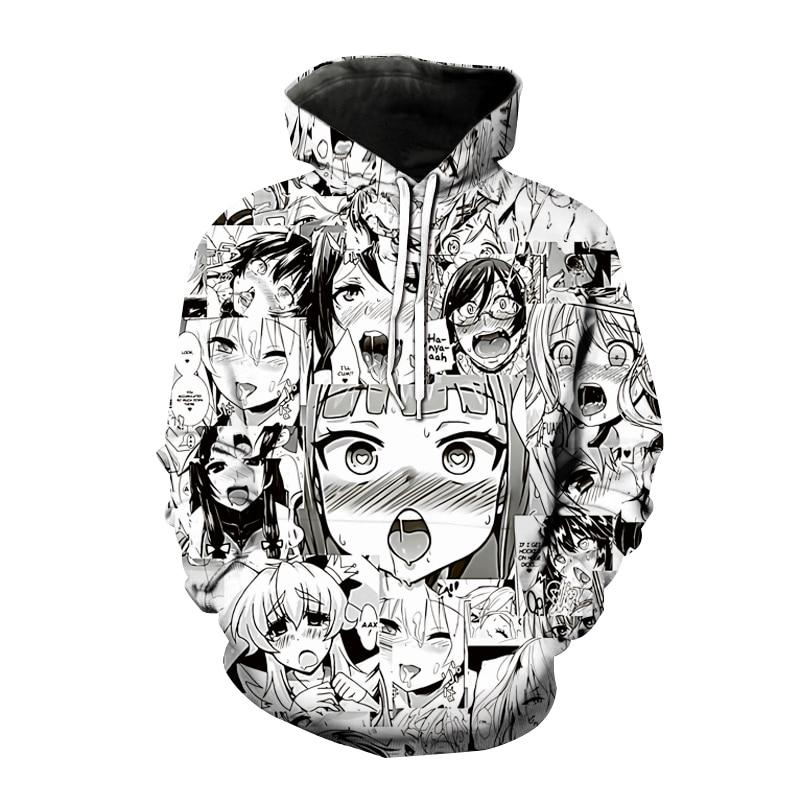 Sudaderas con capucha nuevas con estampado 3D de Ahegao para hombre y...