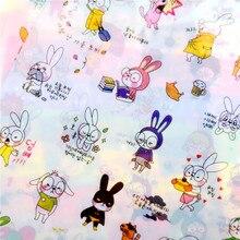 Rabbit Book Sticker For Diary Scrapbook Calendar Notebook Laptop Sticker Label Mobile Phone Decor Baby Girl Toys 6 Sheets/set
