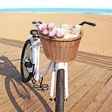 Enfants Vintage rotin vélo paniers vélo Balance voiture paniers vélo Scooter panier enfants vélo chariot plastique sac à main 2020