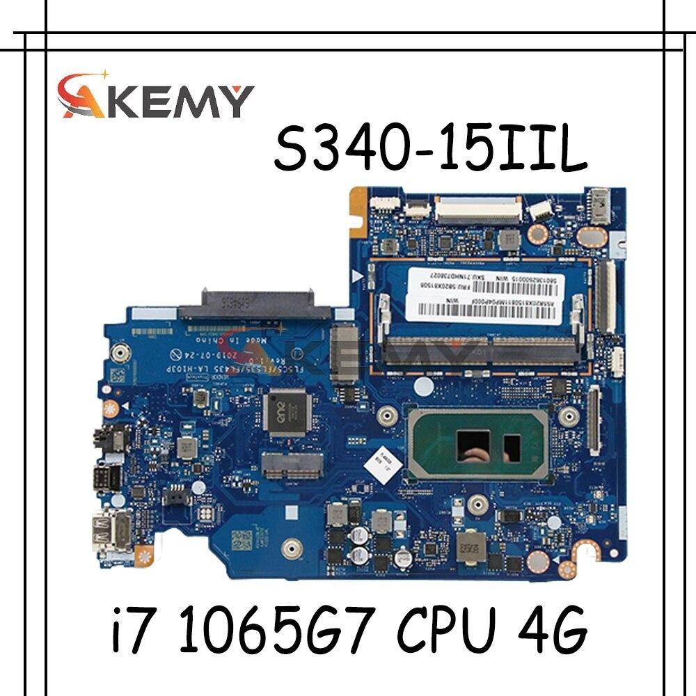 لينوفو S340-15IIL اللوحة الأم لأجهزة الكمبيوتر المحمول S340-14IIL FL5C5/LF535/FL435 LA-H103P مع i7 1065G7 CPU 4G RAM اختبار 100% العمل