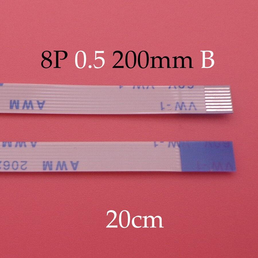 ¡Nuevo! Lote de 3 unidades de Cable Flexible FFC FPC para ASUS A55V K55V, panel táctil, longitud del cable Flexible, 20cm, 8 pines, paso de 0,5mm, 8 pines tipo B