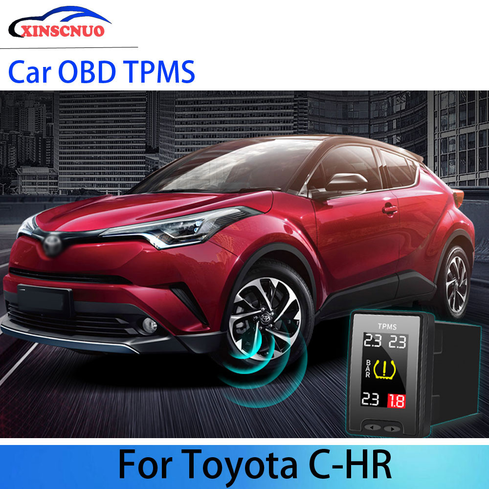 OBD TPMS Tire Pressure Monitoring System For Toyota CHR/C-HR 2018 2019 2020 Security Alarm System Ca