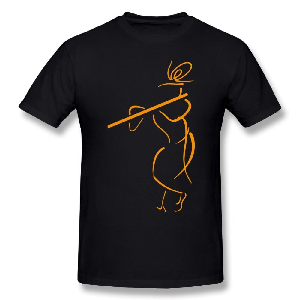 Krishna T Shirt Krishna Hare Krishna T-Shirt Awesome Men Tee Shirt 100% Cotton Oversize Streetwear Short-Sleeve Graphic Tshirt
