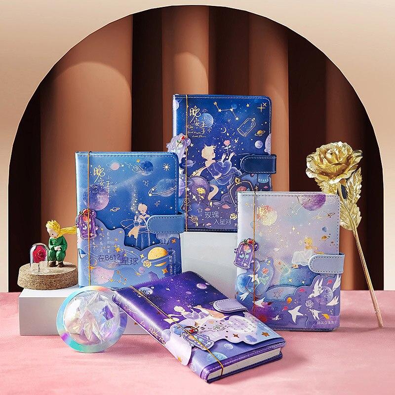Фото - Кожаный мультяшный блокнот, дневник в стиле милый маленький принц, ежедневник для бизнеса, офиса, студентов, школьные принадлежности, скетч... блокнот маленький принц синий арте