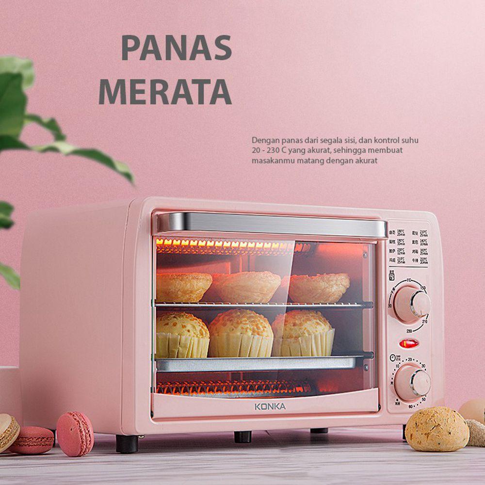 KONKA فرن كهربائي 13L متعدد الوظائف فرن صغير مقلاة الخبز آلة المنزلية جهاز صُنع فطائر البيتزا الفاكهة الشواء محمصة