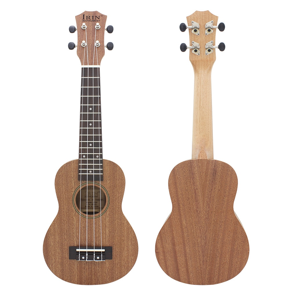 21 Inch Ukulele Wood Grain Sapele Soprano Ukulele 4 Strings Hawaiian Guitar Beginner Kids Musical Instrument Gifts Mini Guitarra