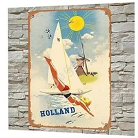 jager holland dutch windmill by jan wijga retro metal decor wall plaque vintage 20x30 tin sign for house cafe club home or bar