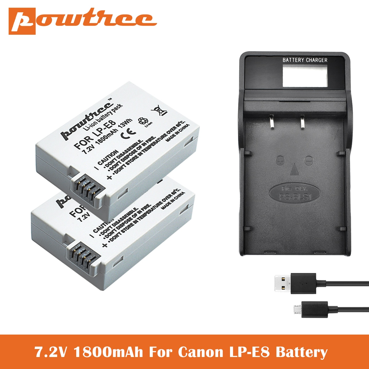 AliExpress - LP-E8 Battery+Charger For Canon Rebel T5i T4i T3i T2i EOS 600D, 550D, 650D, 700D, Kiss X5, X4, Kiss X6 Replacement of LC-E8E L50