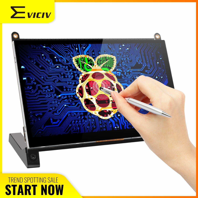 Eviciv 7 Polegada raspberry pi 2 3 4 modelo b zero tela de toque 1024x600 monitor portátil 169 display 60hz usb raspi touchscreen kit