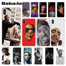 Babaite 2Pac Tupac Amaru Shakur Biggie Phone Case for iPhone XR 11 Pro Max XS MAX  8 7 6 6S Plus X 5 5S SE